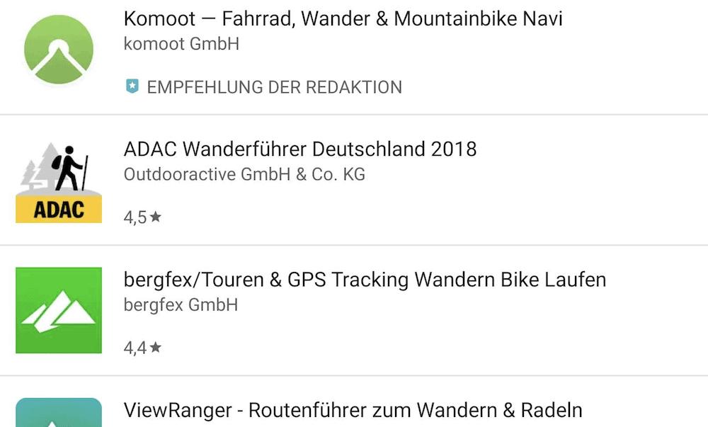 Wandern - Welche App ist die beste?